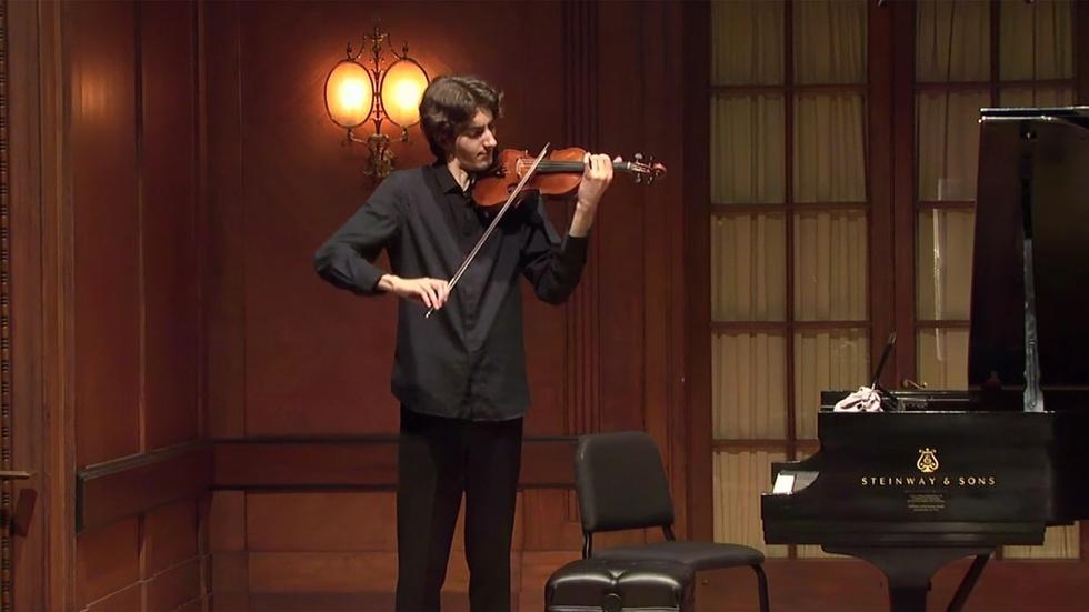 Violinist Stephen Waarts Graduation Recital image