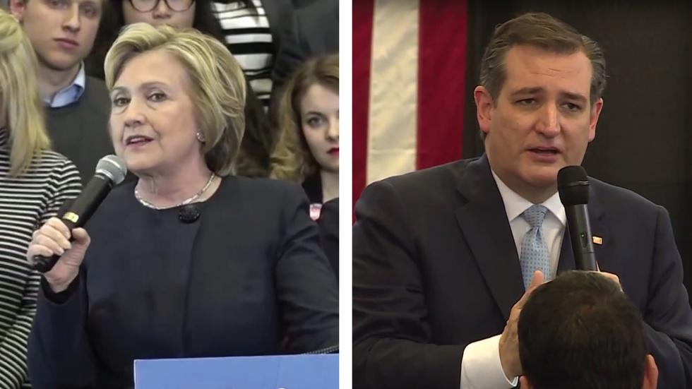 Clinton, Cruz Visit Ahead of Primary image