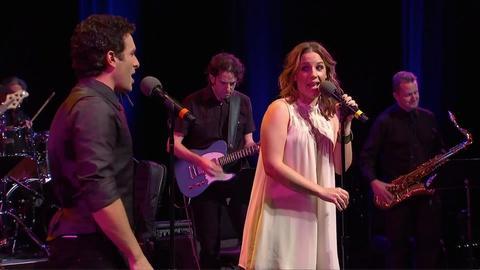 "Jessie Mueller and Jarrod Spector sing ""Your Song"""