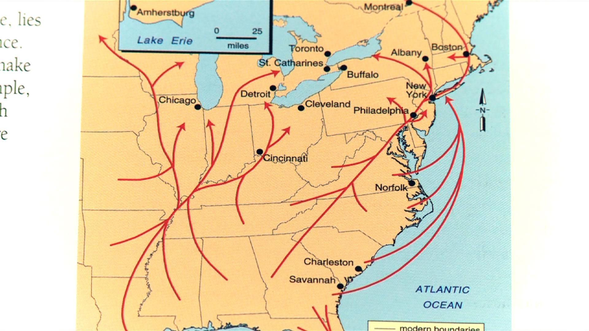 Tracing the Underground Railroad in New Jersey on underground wells map, underground roads map, underground trains map, underground government facilities map, underground homes map, frederick douglass map,
