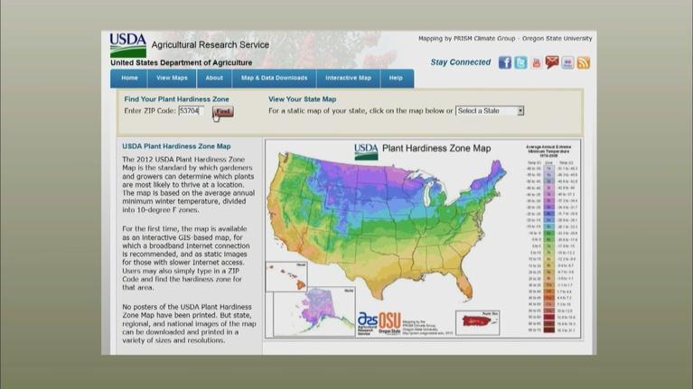 The Wisconsin Gardener: Wisconsin's New Growing Zone Map
