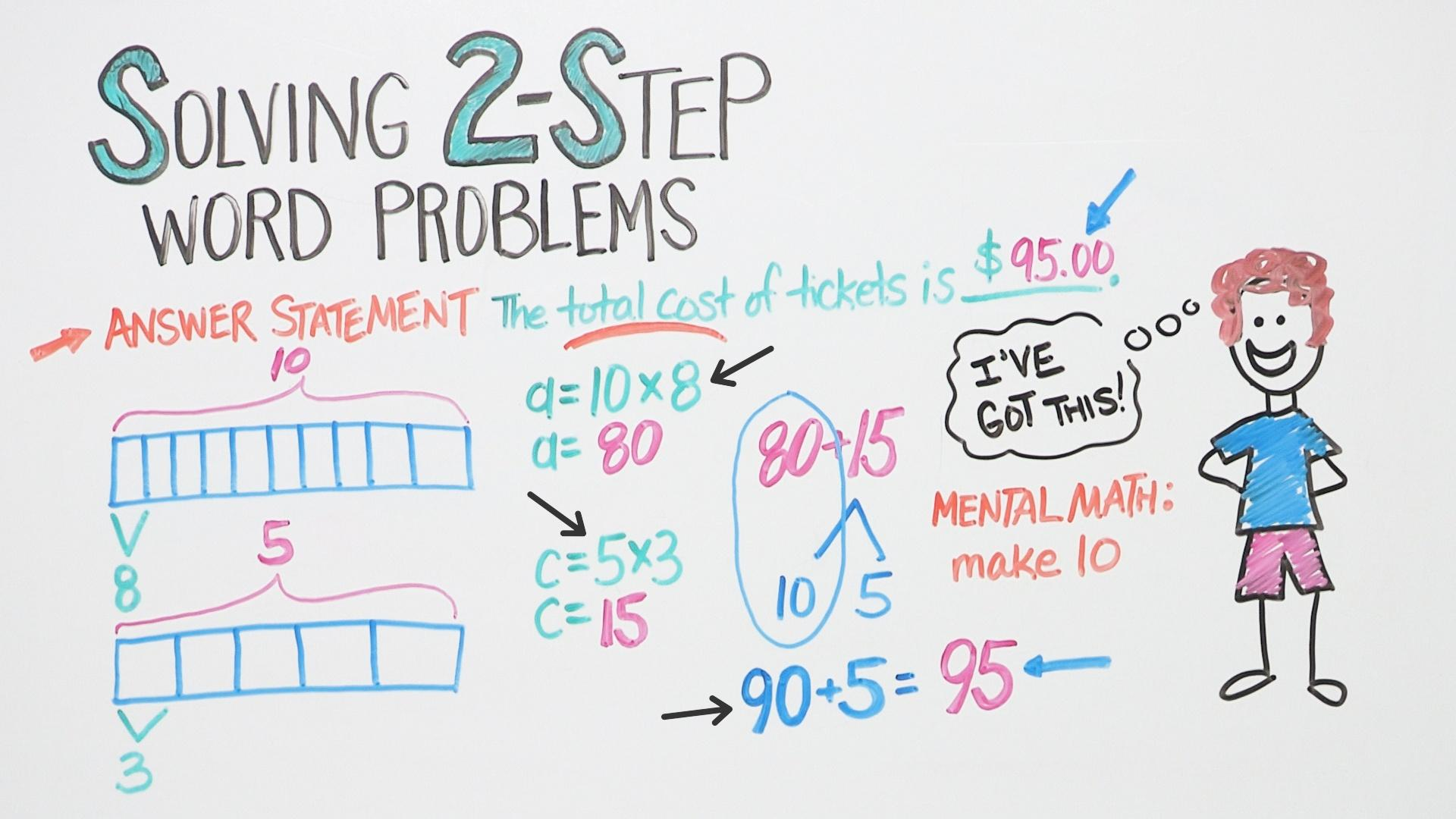 solving math word problems step by step