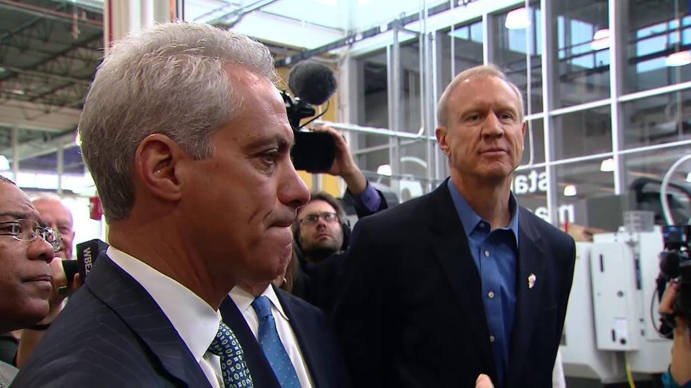 Bruce Rauner, Rahm Emanuel at Odds as State Budget Impasse image