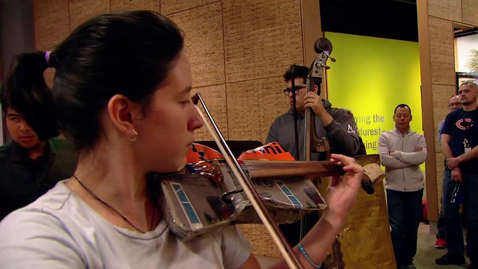 Orchestra of Recycled Instruments Brings Miraculous Music image