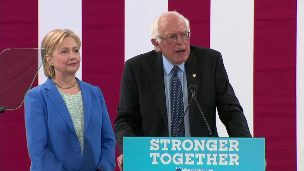Bernie Sanders: Hillary Clinton 'Best Candidate' for Preside image