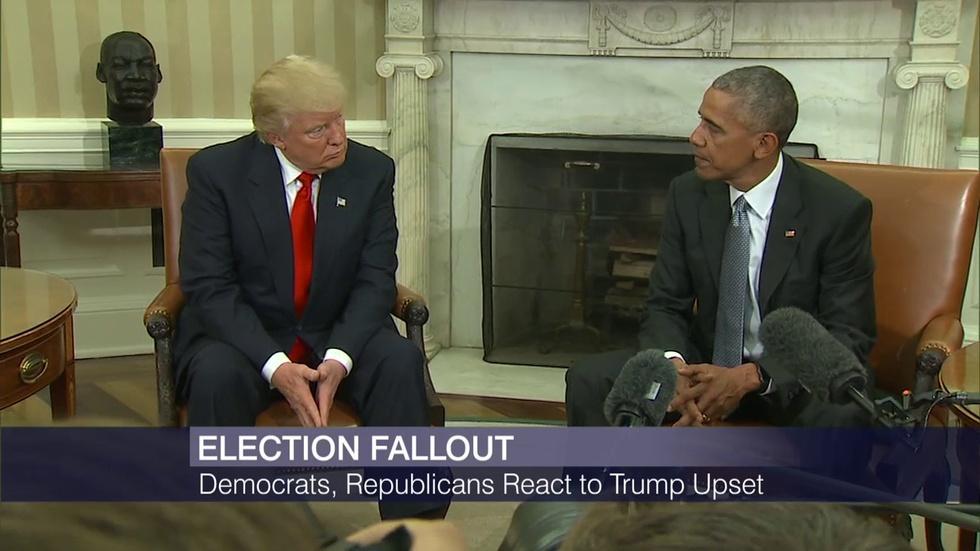 Trump, Obama Meet at White House image