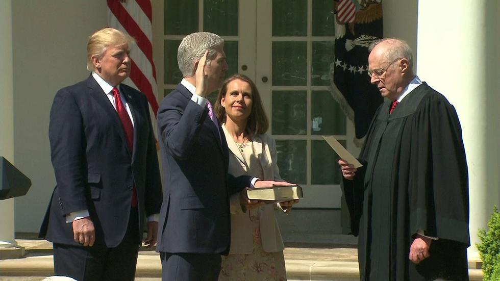 Gorsuch Sworn in as Supreme Court Justice image