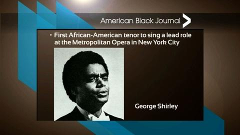 American Black Journal -- George Shirley Firsts / Black and Arab Women's Dialogue