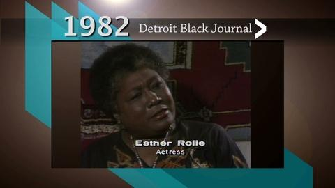 American Black Journal -- Esther Rolle on Detroit Black Journal
