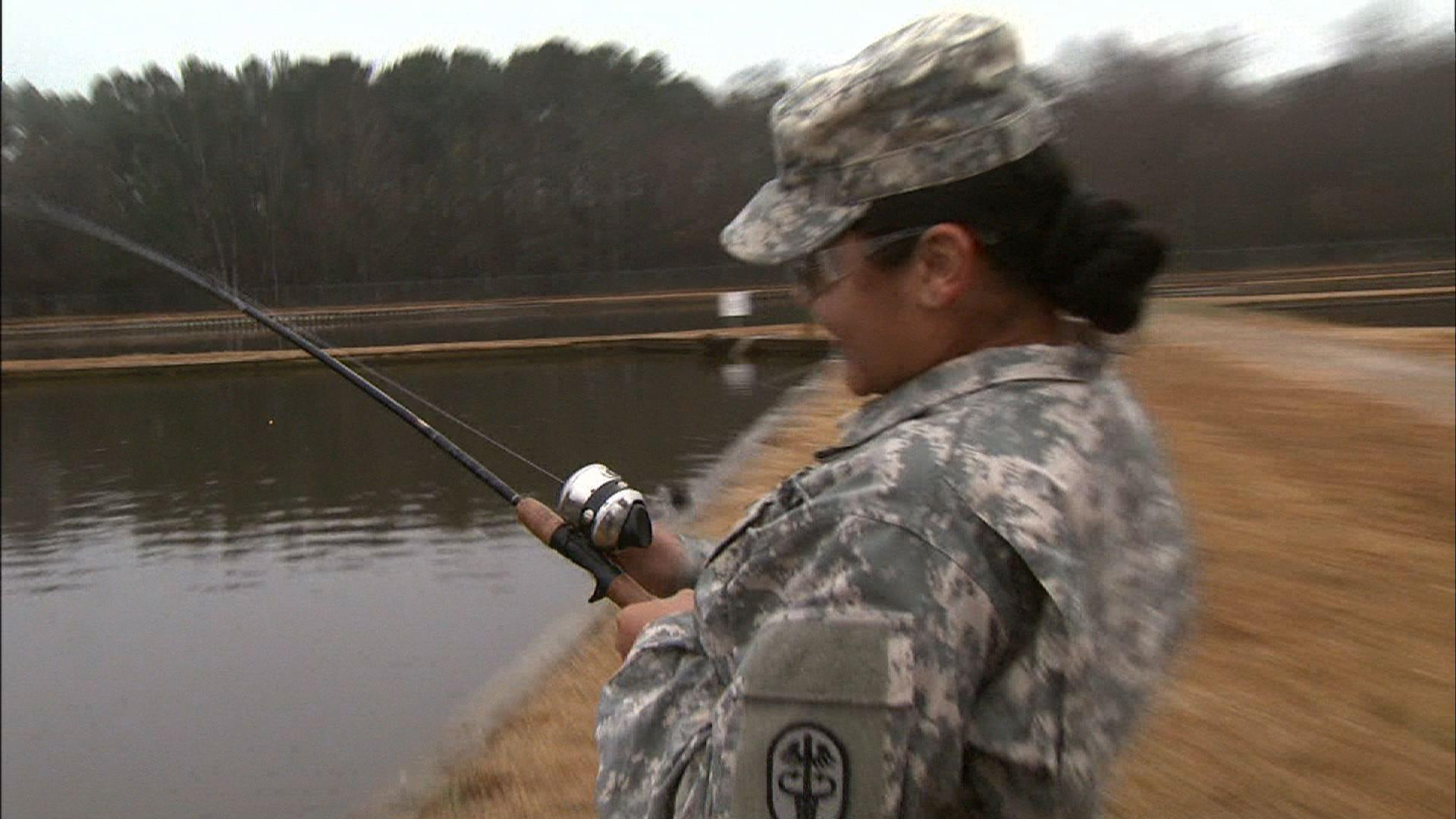 Video wounded warriors fishing watch unc tv science for Carolina fishing tv