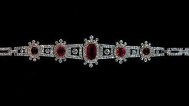 Appraisal: Ruby & Diamond Bracelet, ca. 1895