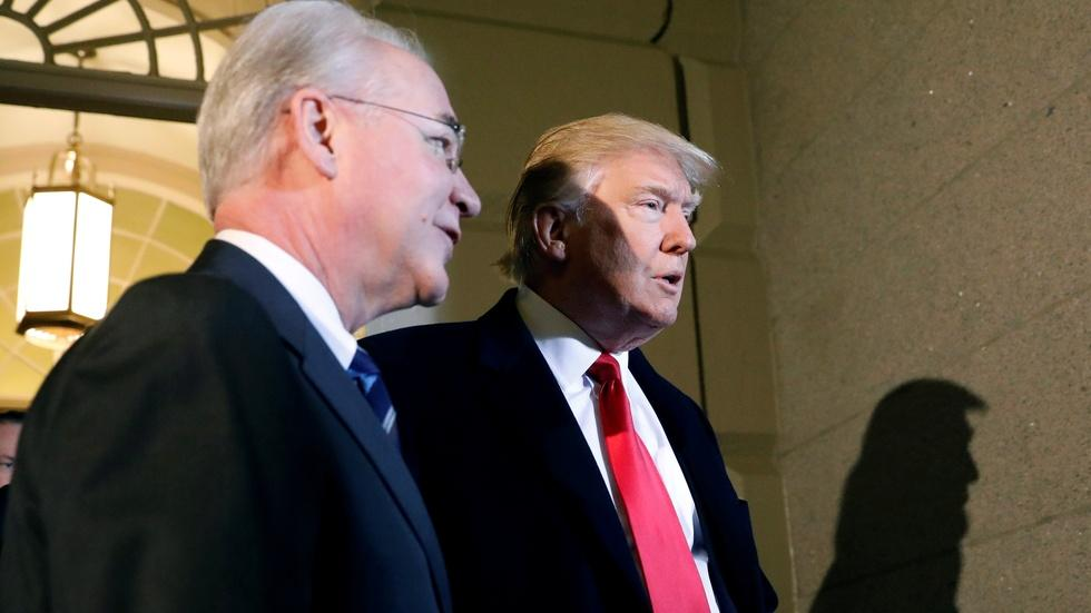 HHS secretary Price resigns over costly charter flights image