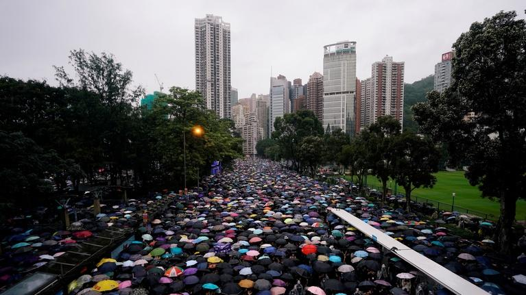 PBS NewsHour: Nearly 2 million gather in latest Hong Kong demonstration