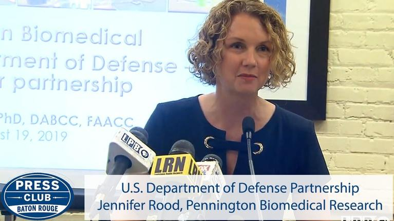 Press Club: PBRC's Defense Partnership | Jennifer Rood | 08/19/19 | Pres