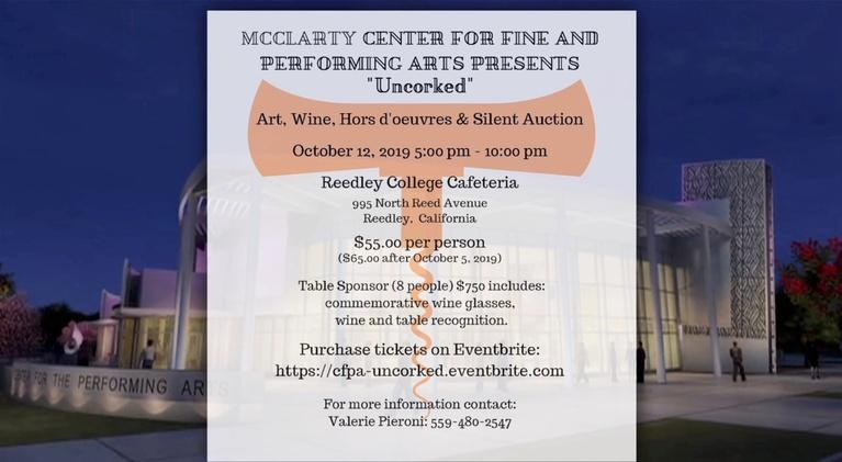 "byYou Education: McClarty Center for Fine & Performing Arts: ""Uncorked"""
