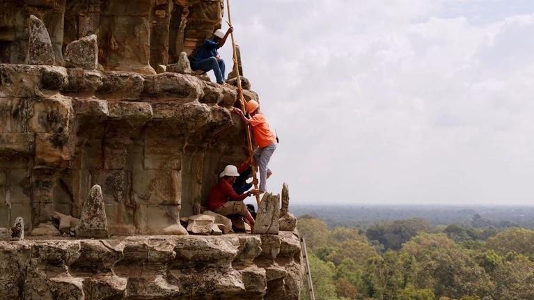 Earth's Sacred Wonders: Climbing the Towers of Angkor Wat