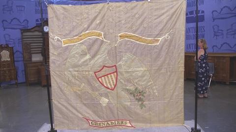 Antiques Roadshow -- S21 Ep25: Appraisal: Silk Militia Flag, ca. 1820