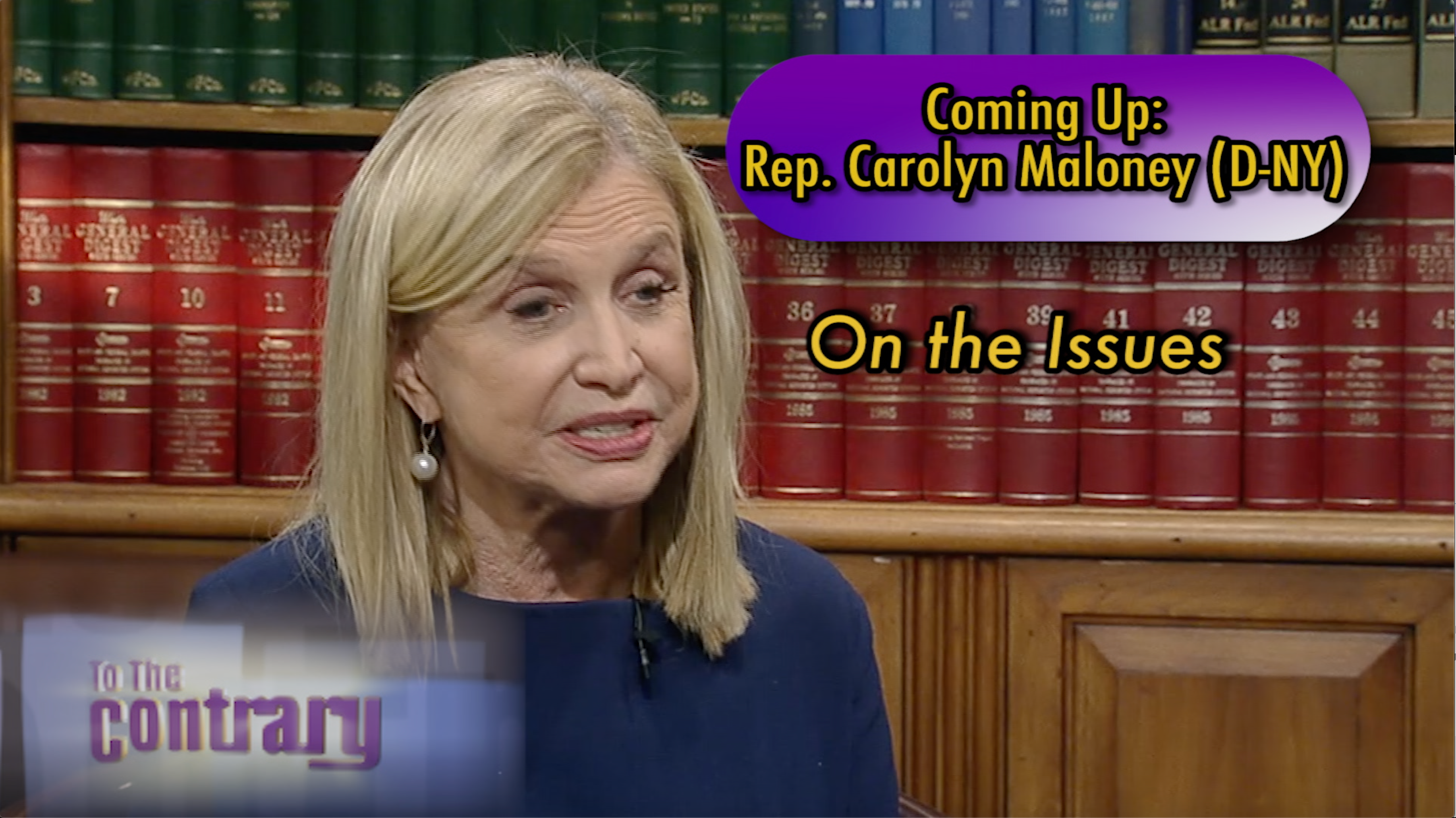 Woman Thought Leader: Rep. Carolyn Maloney (D-NY)