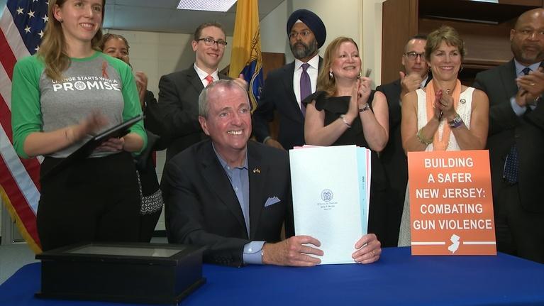 NJTV News: Murphy signs 'smart gun' bill, calls for more gun control