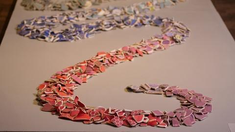 Craft in America -- Judith Content's ceramic installation