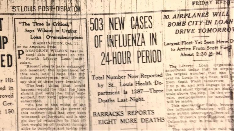 Living St. Louis: 1918 Spanish Flu Pandemic