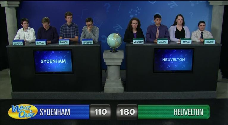 Whiz Quiz: Heuvelton vs. Sydenham International Championship 2018