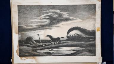 "Appraisal: 1942 Thomas Hart Benton Lithograph, ""The Race"""