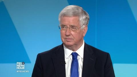 PBS NewsHour -- U.K. defense secretary talks Russia, Syria and North Korea