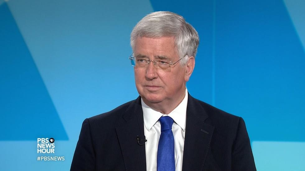U.K. defense secretary talks Russia, Syria and North Korea image