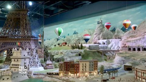 PBS NewsHour -- Artists remake the world's wonders in lilliputian scale