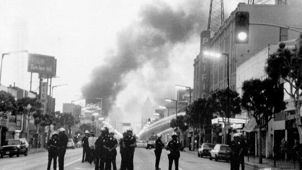 Looking back at LA riots after beating of Rodney King image