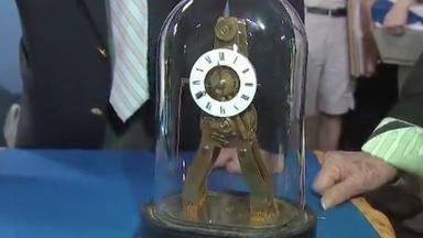 Appraisal: Pierret Mini Skeleton Clock, ca. 1850