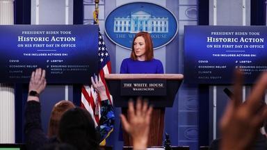 New White House press secretary on Biden's first 100 days