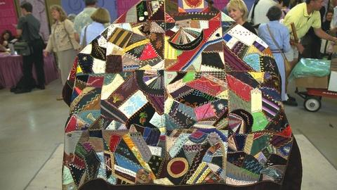 Antiques Roadshow -- S21 Ep23: Appraisal: Silk-embroidery Crazy Quilt, ca. 1890
