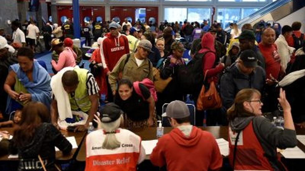 Houston convention center shelters surge of storm victims image