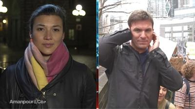 Atika Shubert & Bill Weir at the Student Climate Protests