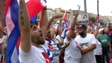 Cuban-Americans in NJ rally in support of protestors in Cuba