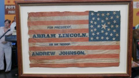 Appraisal: Lincoln Presidential Campaign Flag, ca. 1864
