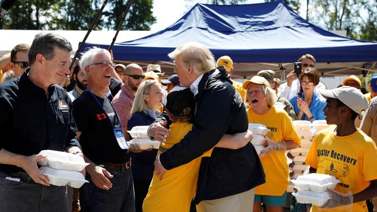 PBS NewsHour: Trump gets first-hand look at Hurricane Florence distress
