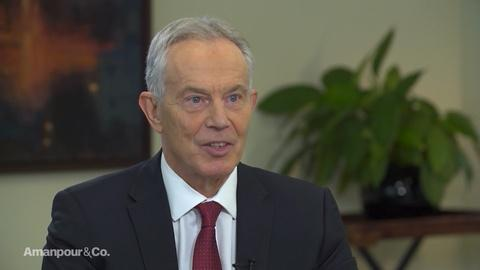 """Amanpour and Company -- Former UK Prime Minister Tony Blair on Brexit: """"It's Tragic"""""""