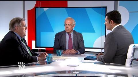PBS NewsHour -- Shields and Brooks on Trump's trip, Montana press bashing