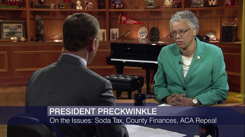 Toni Preckwinkle Discusses Cook County Soda Tax Pushback image