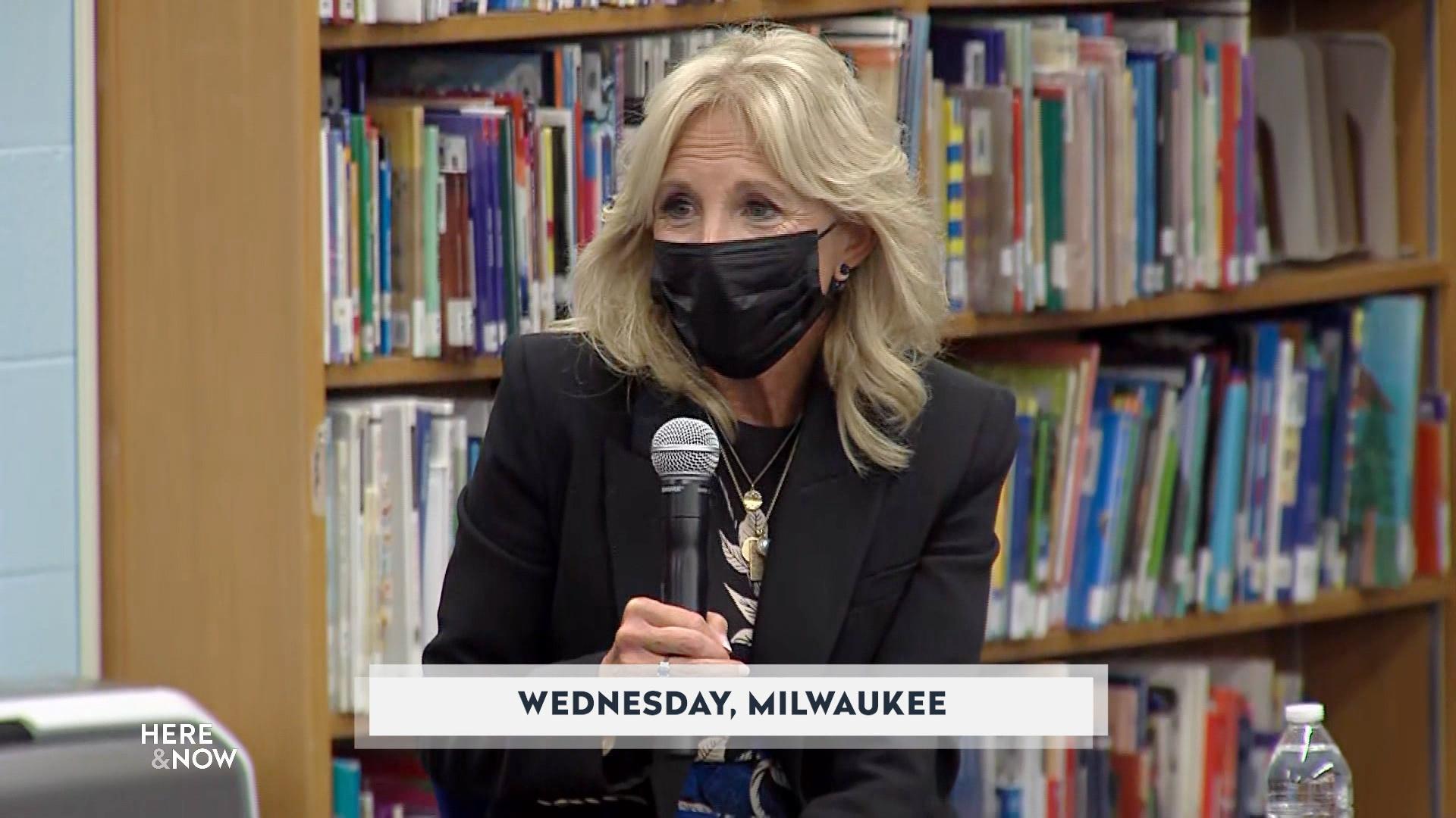 First Lady Jill Biden Visits Milwaukee School