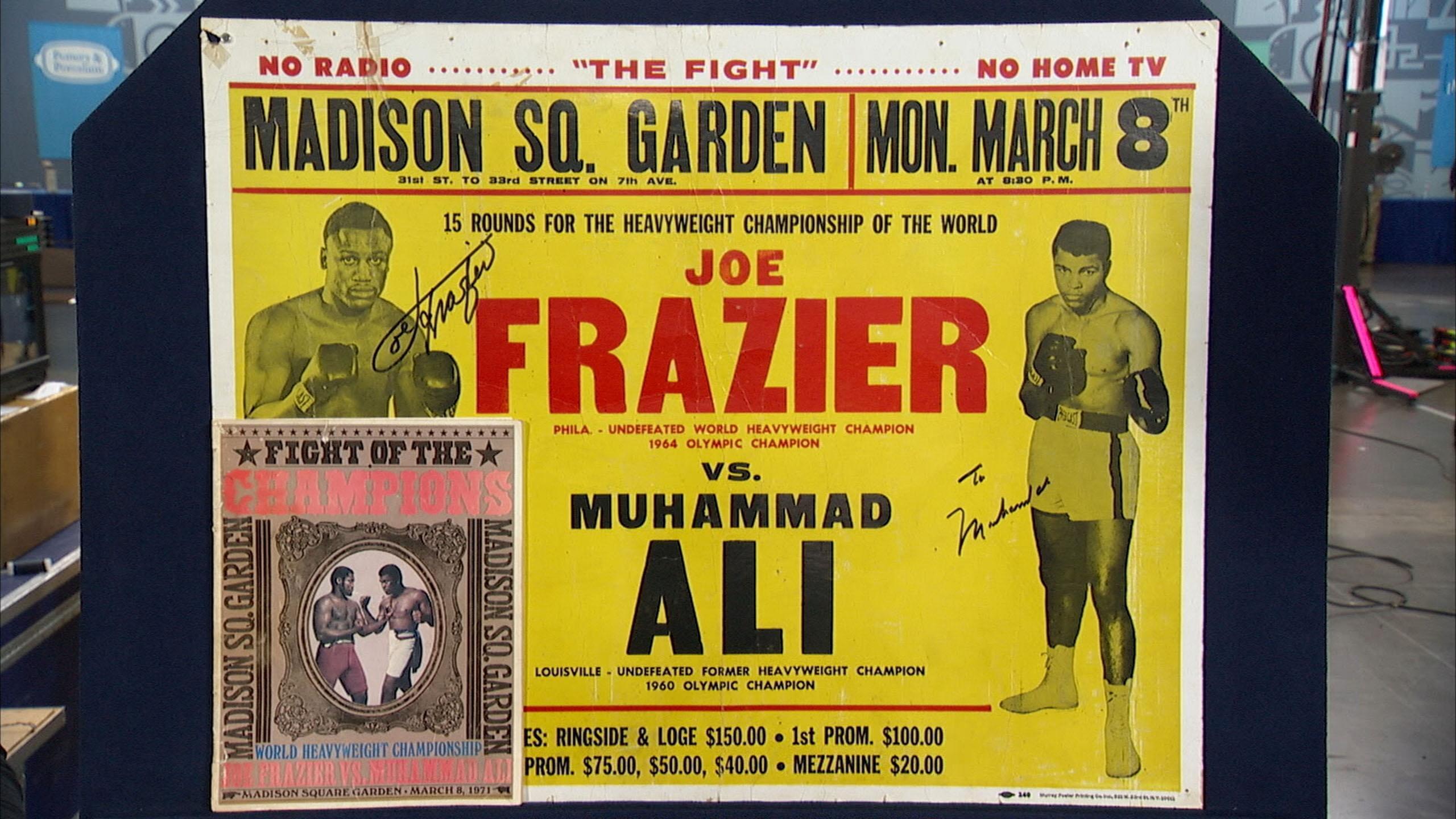 Appraisal: Signed Muhammad Ali & Joe Frazier Poster
