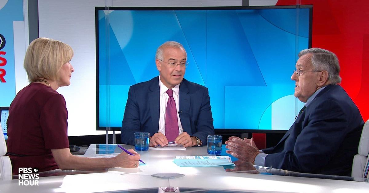 Shields and Brooks on climate policy, Trump's Dorian claim