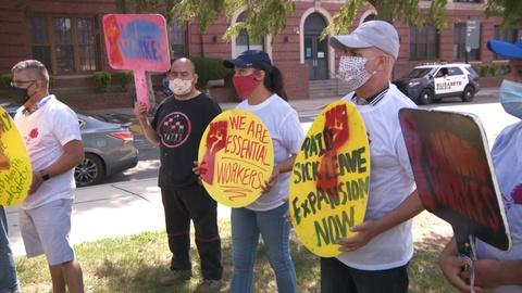 Workers demand governor enforce COVID-19 safety standards