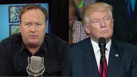 Alex Jones and Donald Trump