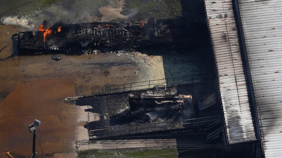 Destruction in Houston raises chemical health concerns image