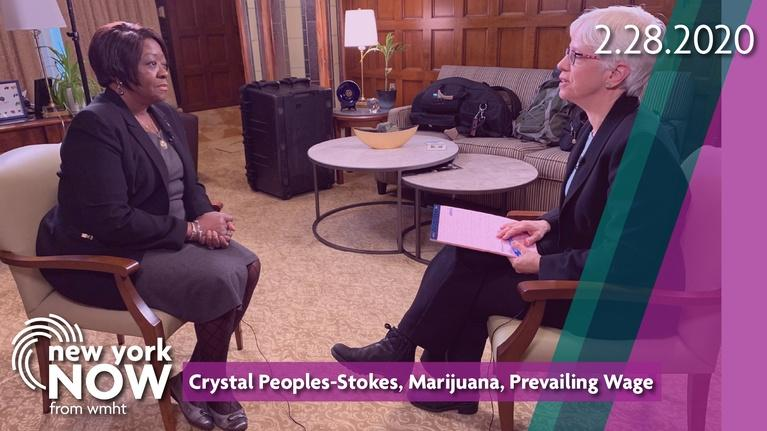 New York NOW: Leader Crystal Peoples-Stokes, Marijuana, Prevailing Wage