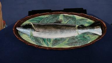 Appraisal: Majolica Fish Tureen, ca. 1870